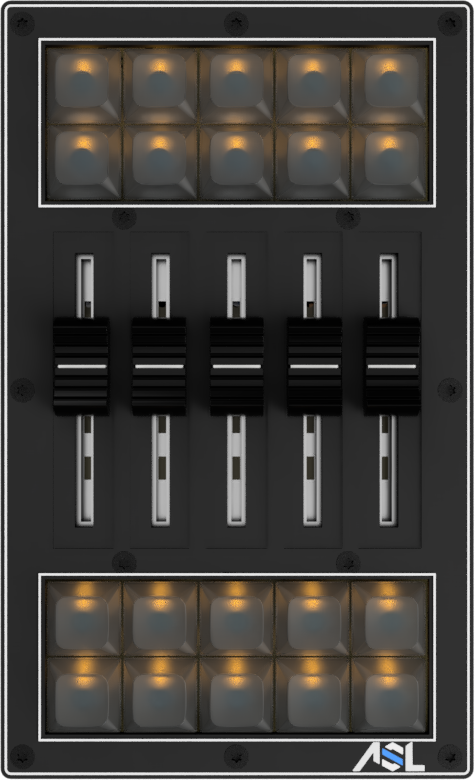Buttons5x4+Faders_Led